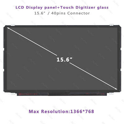 HD HP 15-R052NR B156XTT01.2 40pins LCD Touch Screen Display Assembly Replacement