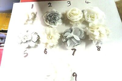 Hair fasinator white flower OR broach ideal wedding / christening / party