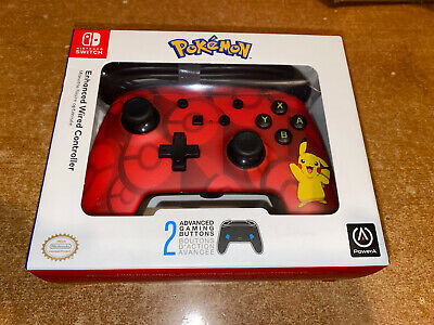 Brand NEW Nintendo Switch PowerA Pokemon Enhanced Wired Controller Pikachu