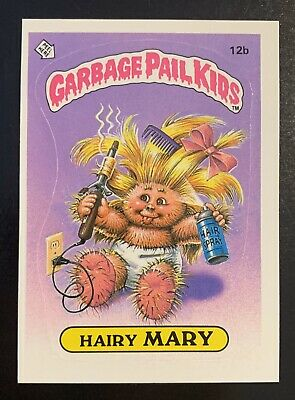 1985 Garbage Pail Kids 1st Series 1 Hairy Mary 12b Matte Back Card!! TWT