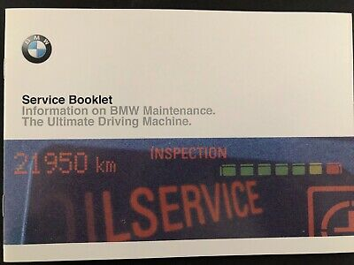 bmw service history book brand new & genuine not duplicate for petrol & diesel .
