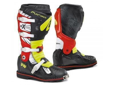 Forma Stivali moto cross Terrain TX Black/Yellow fluo/Red tg. 44