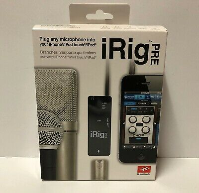IK Multimedia iRig Pre for iPhone/iPod touch/iPad BRAND NEW SEALED!
