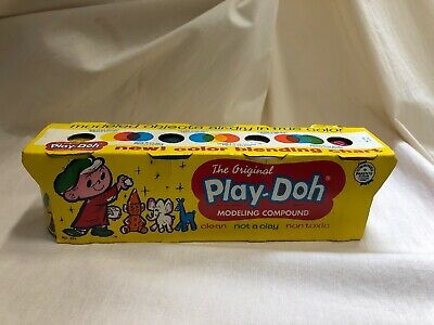 VERY RARE 1965 Unopened Vintage Antique Play-doh Original Packaging Excellent!!!