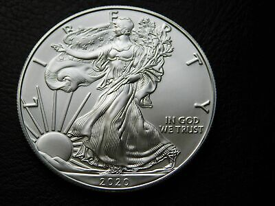 2020 American Silver Eagle Brilliant Uncirculated 1 oz .999 Fine Silver Eagle BU