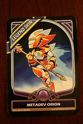 Brawlhalla Metadev Orion Legend Skin Code For Pc Pax In Game Skin Key Card