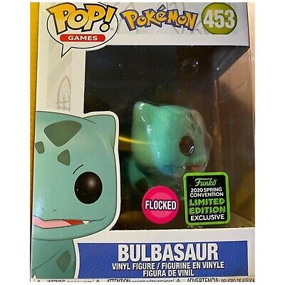 Funko Pop! Bulbasaur Flocked 2020 ECCC Shared Exclusive Preorder + Protector