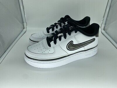 NIKE AIR FORCE 1 Low LV8 GS Size 5Y Metallic Gold White