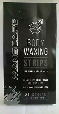 6 x 20 Manscape Body Waxing Strips For Male Coarse Hair Free Delivery