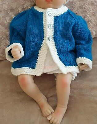 Hand Knitted Baby Cardigan BRAND NEW To Fit Age 0 - 6 Months Approx