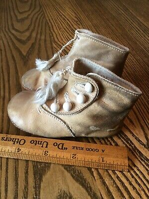 Vintage kid booties antique victorian buttons leather boots baby shoes Tassel
