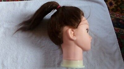 Hair Practice Training Head Mannequin Hairdressing Doll + Clamp