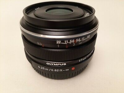 Olympus M.Zuiko DIGITAL 17mm F/1.8 Lens - Black