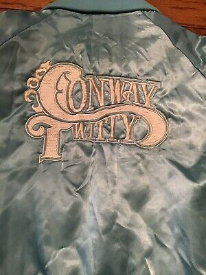 Rare 70's Conway Twitty Vintage Concert Tour Snap Jacket Embroidered Small Nylon