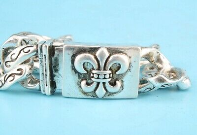China Tibetan Silver Hand-Carved Boat Anchor Bracelet Auspicious Collec Gift