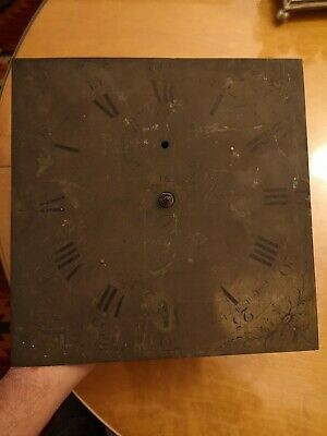Antique brass diall, longcase movement, grandfather clock movement. 30 hours