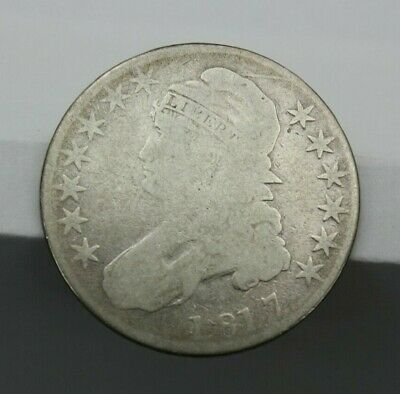 1817 Capped Bust Half Dollar Lettered Edge Ag/G