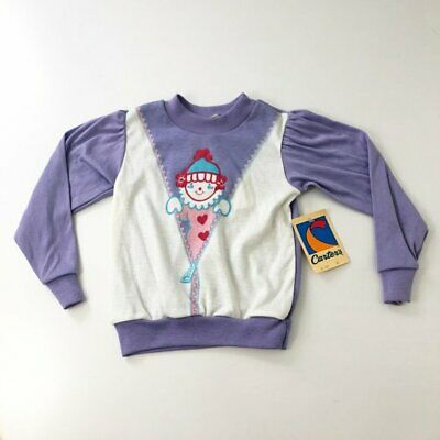 Deadstock Vintage Carters Toddlers Sweatshirt 4T Clow Design