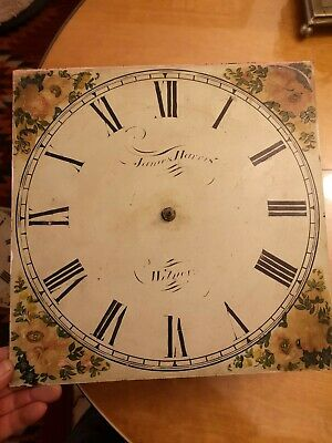 Antique longcase grandfather clock movements 30 hours, painted dial