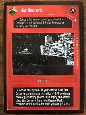 Star Wars CCG Special Edition Kuat Drive Yards Rare Card