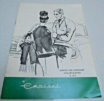 Empisal Jumpers and Cardigans Raglan Sleeves Knitting Machine Pattern Book 8ply