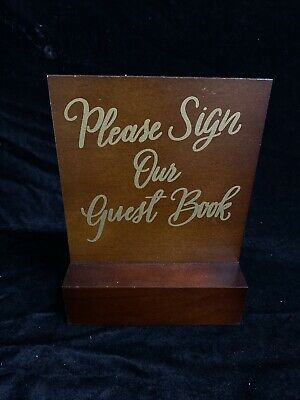 Sign Our Guest Book Wedding Wooden Plaque Sign Laser Engraved pq51