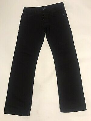 Mens Black Denim Jeans W34 L32 Slim Fit wt Button Fly by KIABI