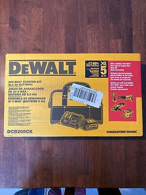 Dewalt Dcb205Ck 5 Amp Battery Bag And Charger Kit-  BRAND NEW