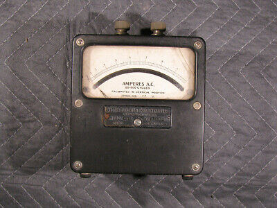 Vintage Weston Electric Model 433 AC Amperes Meter