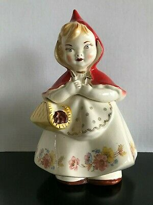 Vintage Little Red Riding Hood Hull Pottery #967 Cookie Jar