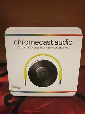 Google Chromecast Audio Media Streamer - Black NEW SEALED