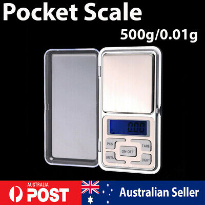 500g x 0.01g Digital Scale Jewelry Pocket Balance Gram LCD Herb Gold Kitchen