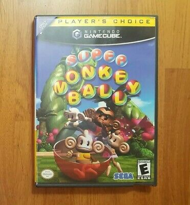 Super Monkey Ball (Nintendo GameCube, 2001) 100% Complete with Manual