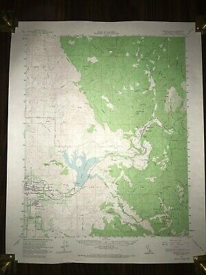 1957 Springville Quadrangle California Geological Topographic Rare Map
