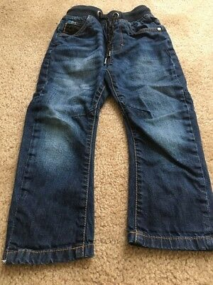 Next Toddler Kids Blue Denim Jeans Pants Sz 3 Yrs