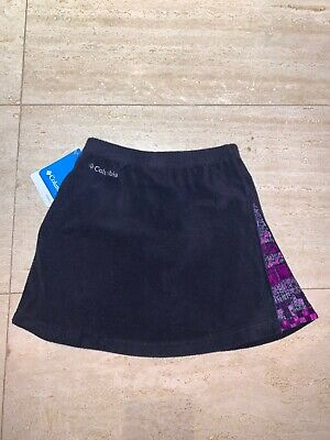 Columbia Sport Girls' Glacial Fleece Skirt - Black / Purple - Youth XS $36 NWT