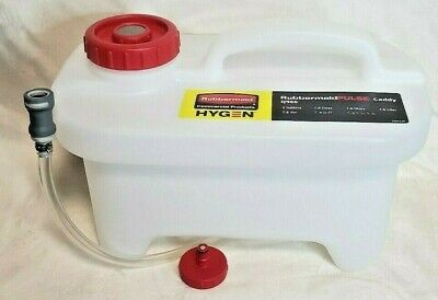New In Box 2 Gallon Rubbermaid Hygen Pulse Caddy With Clean Connect Q966