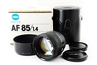 Minolta AF 85mm f/1.4 G Lens For Sony A-Mount Boxed Near Mint Japan Tested