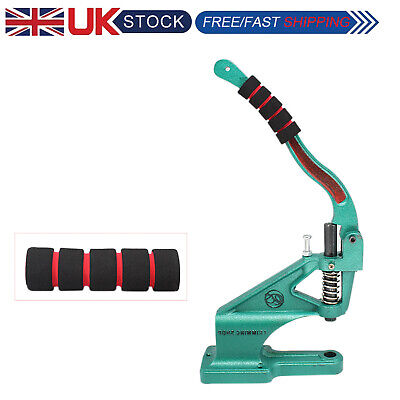 Green Hand Press Machine with Rubber Foam Gripper Handle Cover for Leathercrafts