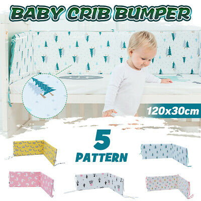 Infant Baby Toddler Crib Bumper Bed Protector Soft Cushion Pad Nursery Bedding