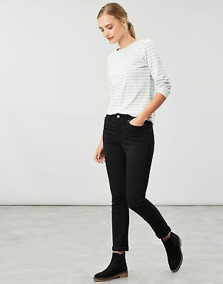 Joules Womens Minnie High Rise Slim Leg Jeans - TRUE BLACK