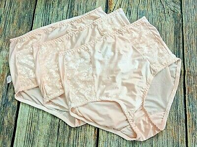 3 Pink 8/XL Bali LIGHT TUMMY CONTROL Double Support Nylon Full Brief Panties
