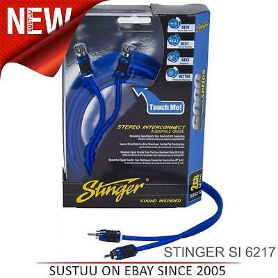 Stinger 17FT/5.2M 2-Channel Directionnel Blindé Rca Interconnexion Câble