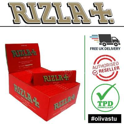 Rizla Medium Thin Red King Size Regular Smoking Rolling Papers Box Booklets