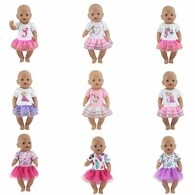 Doll Clothes Dress 17 inch Jumpsuit 43cm Reborn Baby Outfits Pajamas Romper Kit
