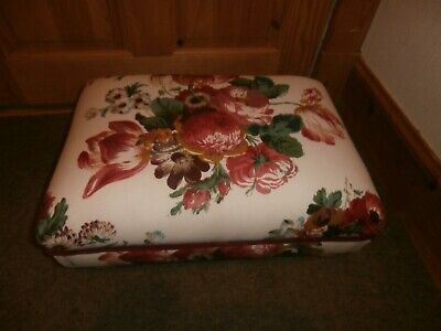 NEW Bespoke Foot Stool. GP & J Baker Fabric 'Kingsley'. Matching Stool Listed