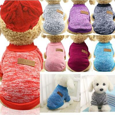 Pet Clothes Soft Thickening Warm Pup Knitwear Dog Sweater BRCE
