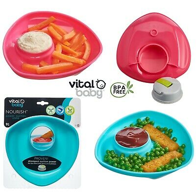 Vital Baby Power Suction Plate Pop Toddler Feeding Dipping Pot Dish Meal  Bowl
