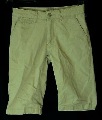 Boys H&M Light Brown Chino Cotton Adjustable Waist Smart Shorts Age 8-9 Years