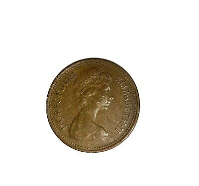 Old Coin 1973 1p New Penny Circulated Decimal Collection Currency Elizabeth II